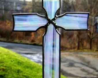 Easter Cross Religious Catholic Celtic Stained Glass Baptism Christian Christmas Suncatcher Spiritual Ornament Easter Original Design©