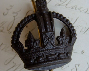 Antique French Brass 1922 Crown Badge/Medal