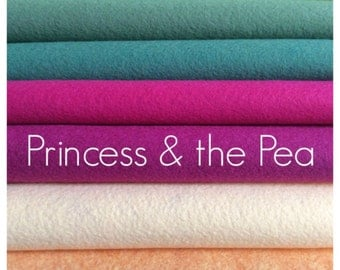 Princess and the Pea // Wool Felt Sheet Collection // 9x12 sheets of Merino Wool blend Felt