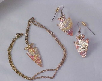 Awesome Native American Style Laminated Arrows~Necklace & Earrings