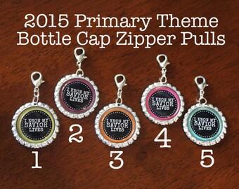 I Know My Savior Lives- Bottle Cap Zipper Pull