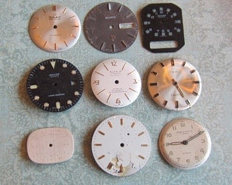 Vintage Antique Watch  Assortment Faces - Steampunk - Scrapbooking d09