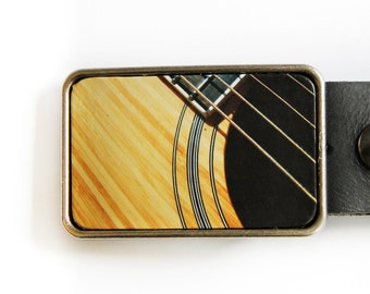 Guitar Belt Buckle Acoustic