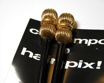 Hair Picks Sticks Pix Stix Vintage Pair New Old Stock