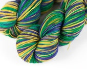 """Strong Sock Self-Striping """"Fat Tuesday"""""""