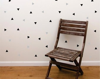 Triangle wall sticker decals - set of 50 triangle wall decals for baby nursery - bedroom wall decal - small triangle decals