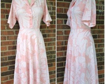 Pink Floral Fall Dress