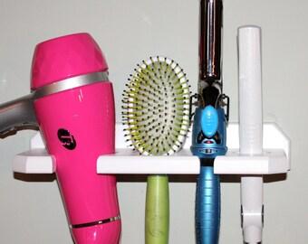 Hair blow dryer curling flat iron brush shelf holder bathroom organizer storage USA  T3DFCB