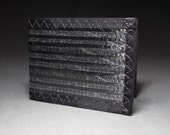 Rugged Mens Wallet - Carbon Fiber Black - Bifold ID - Cloth Wallet