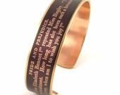 Jane Austen - Pride and Prejudice Cuff Bracelet - Book Jewelry - Lady's Imagination Skinny Bracelet