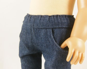 "Fits American Girl 18"" Doll Clothing Navy Blue Denim Skinny 4 Pocket Jeans"