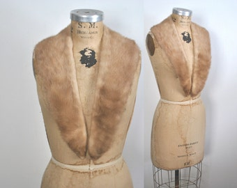 Brown Mink Fur Collar / vintage