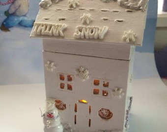 Think Snow House with light