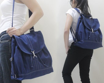 New Year SALE - 20% OFF Pressie in Royal Blue / Backpack / Satchel / Rucksack / Messenger / Tote / Women / For Her / Gift Ideas