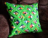 Cathedral Window Pillow Cover Toucans Tropical Jungle