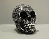 Painted Plaster Skull / Calavera #02