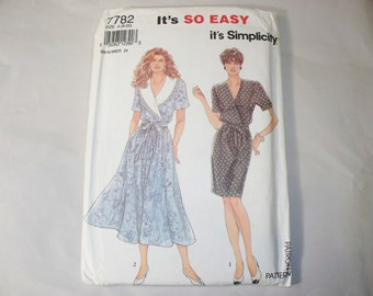 Vintage Simplicity Dress Pattern, 7782, Size 8-20 (Free US Shipping)