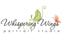 CUSTOMIZABLE Logo - WHISPERING WINGS - Resizable High-Resolution Digital Photoshop Logo Template for Photographers & Scrap Bookers.