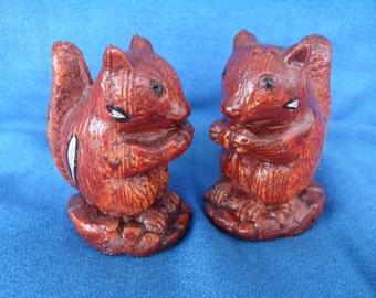 Vintage Squirrel Salt and Pepper Shakers Super Cute S & P Retro