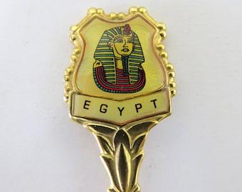 Egypt Collector Spoon Pharaoh Pyramids Camel Sphinx Vintage Travel Souvenir