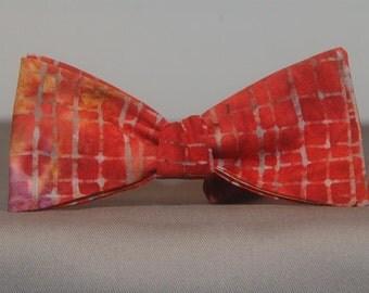 Checkered Batik Tie Dye  Bow tie