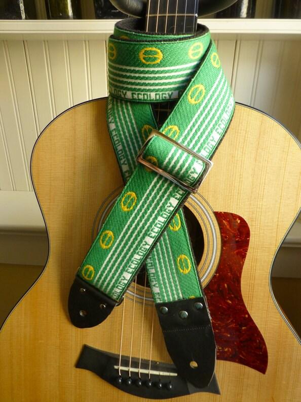 one sale handmade ecology guitar strap from vintage nos trim. Black Bedroom Furniture Sets. Home Design Ideas