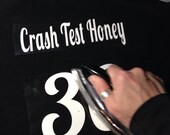 Custom Iron-on Name and Number, for Roller Derby Scrimmage Shirts