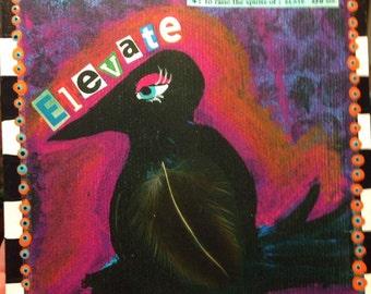 """7 x 7"""" square """"elevate"""" art block"""