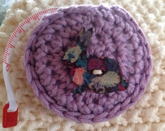 Retractable Measuring Tape / Crocheted covering