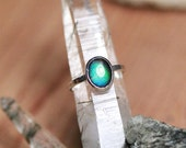 Sterling Silver ring with set Ammolite stone