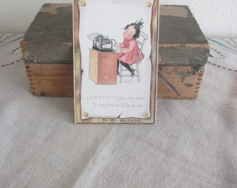 Turn of the Century Valentines Day Card with Nice Stamp