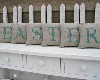 EASTER Mini Shelf Pillows / Mantle Decor