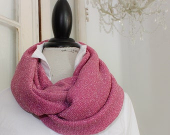 sparkle in pink stretch infinity scarf