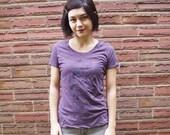 Clearance - XL Kitty Shirt - Purple - Screenprinted Tee