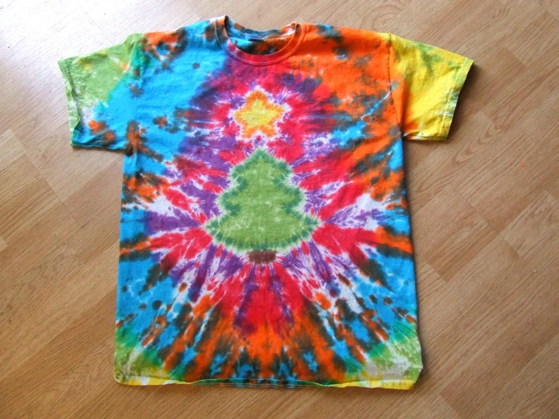 tie dye christmas tree - photo #4
