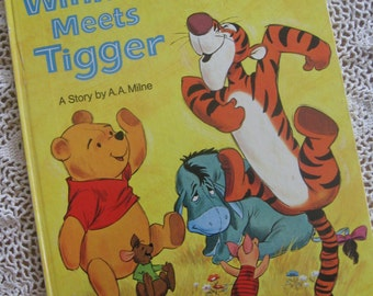 Large Vintage Golden Book with Winnie the Pooh