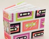 Mini Bitty Book with 365 Pages decorated with Funky Cassette Tapes