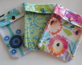 Ouch Pouch Grab Bag (3) Small 4x5 First Aid Organizers for Office Desk Diaper Bag Car Purse - Holiday Stocking Stuffer Gifts Under 5 each