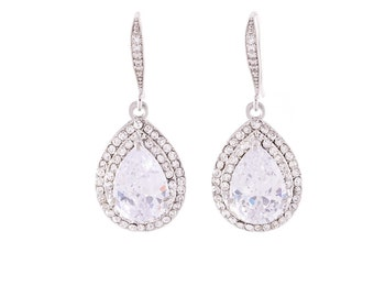 Bridal  Earrings , Crystal Earrings ,Swarovski Crystal Earrings , Vintage Wedding Earrings , Bridal Jewelry, Bridesmaid Jewelry