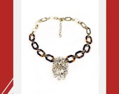 The Charm Necklace with tortoise chain and jewels- in stock, immediate delivery