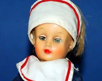 antique rubber and plastic doll with moving eye, collectible, toy, Home Decor, cool vintage, UA
