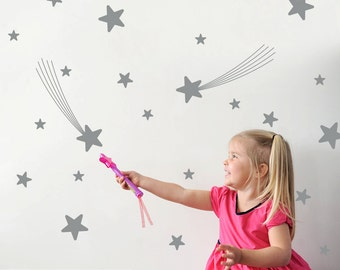 Star Wall Decals Nursery Star Wall Art Star Room Decorations Star Wall Stickers (Pack of 31)