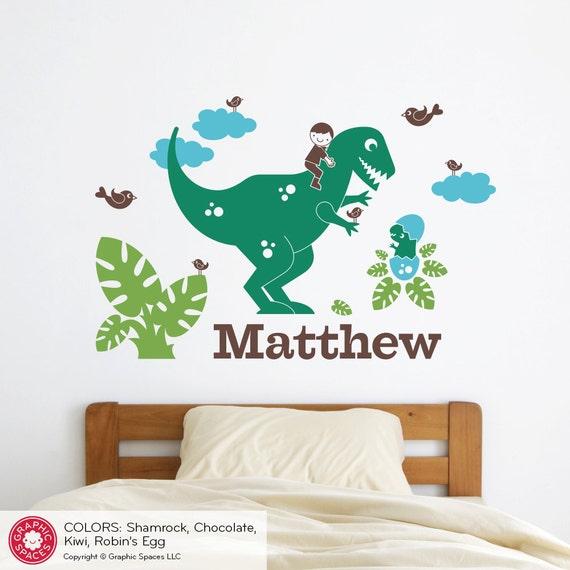 Dinosaur Name Wall Sticker Boy
