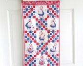 Vintage Towel Days Week Housewife Chores