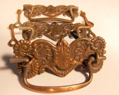 Set of 3 Antique Fancy Brass Drawer Pulls