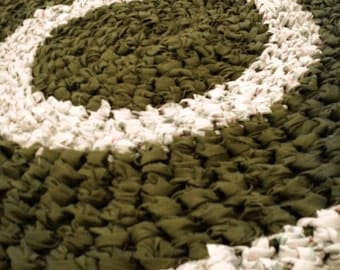 Cat or Dog Upcycled crochet rag rug