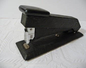 vintage Bostitch Stapler, black stapler, textured finish, home decor, office supplies, vintage desk stapler, unique stapler, metal stapler