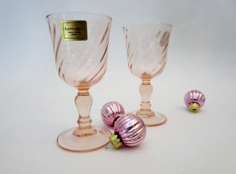 luminarc arcoroc rosaline 4 oz verres pied en verre rose. Black Bedroom Furniture Sets. Home Design Ideas