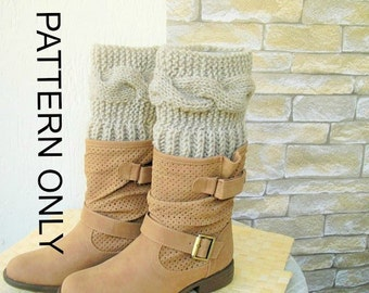 Boot Cuffs pattern Knitting Pattern Instant Download Boot   Digital  Boot Toppers PDF Leg Warmers  Boot Cuffs    Boot Topper  Knit Pattern
