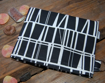 Geometric Black and White Snack, Passport,  Make up, toiletry pouch bag, purse, Finland